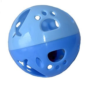 large blue ball with bell