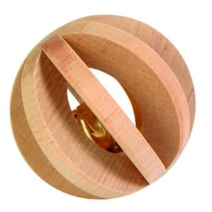 trixie wood slat ball with bell