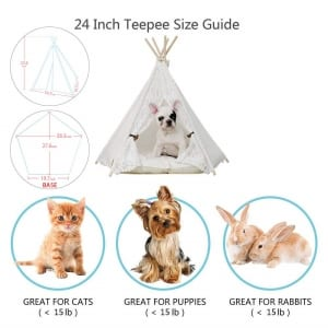 little-dove-Pet-Teepee-DogPuppy-Cat-Bed-Portable-Pet-Tents-Houses