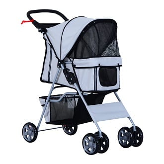 PawHut Pet 4 Wheels Travel Stroller