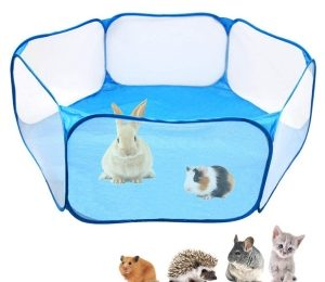 Amakunft Small Animals C&C Cage Tent, Breathable & Transparent Pet Playpen