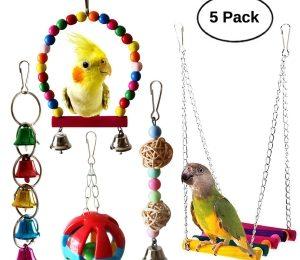 BWOGUE 5pcs Bird Parrot Toys