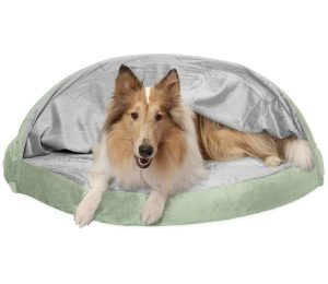 Furhaven Pet Dog Bed | Orthopedic Round Cuddle Nest Snuggery Burrow Blanket Pet Bed for Dogs & Cats