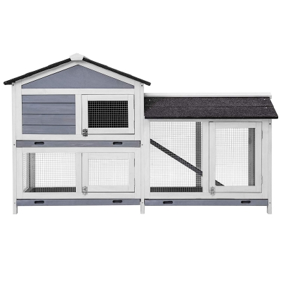 Purlove Pet Rabbit Hutch Wooden Bunny Cage