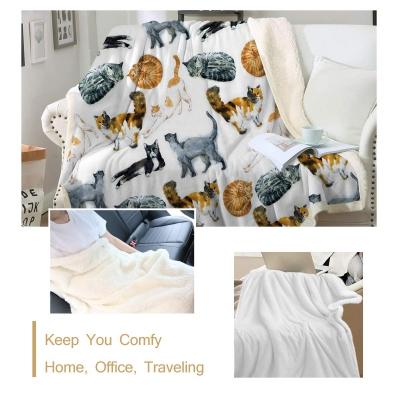 Sleepwish Cat Fleece Throw Blanket