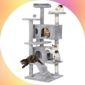Yaheetech Cat Tree Tower Condo with Scratching Post