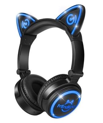 MindKoo Bluetooth Headphones Over-Ear Wireless Headphones Cat Ear