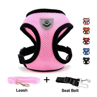 INVENHO Mesh best cat Harness with Padded Vest for Puppy and Cats