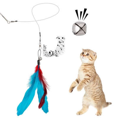JIARON Feather Teaser Cat Toy