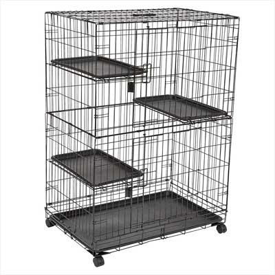 AmazonBasics Large 3-Tier Cat Cage Playpen