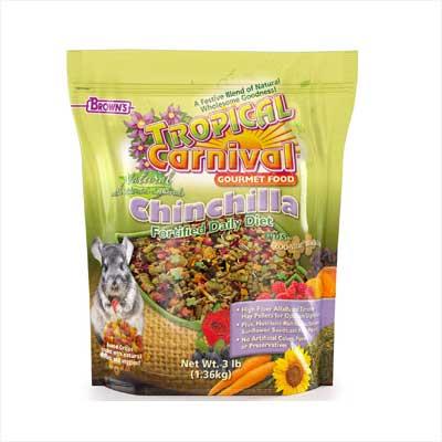 Brown's Tropical Carnival Natural Chinchilla Food