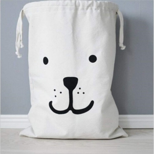 Cuteboom Canvas Laundry bag Household Drawstring Organizers
