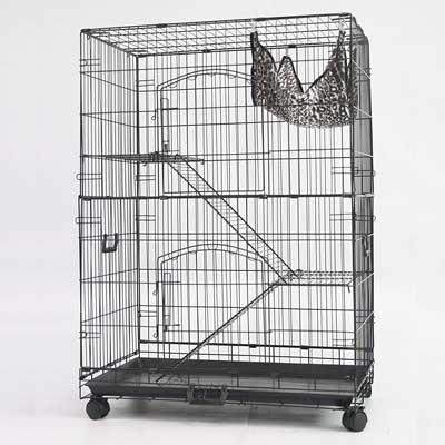 Homey Pet 30-inch Black Wire Chinchilla Cage