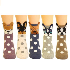 Jeasona Women's Fun Socks Cute Dog Animals Funny Funky Novelty Cotton