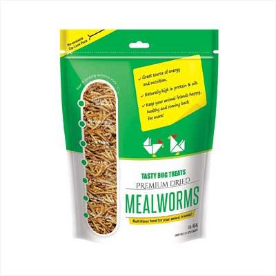 Tasty Bug Treats Premium Dried Mealworms