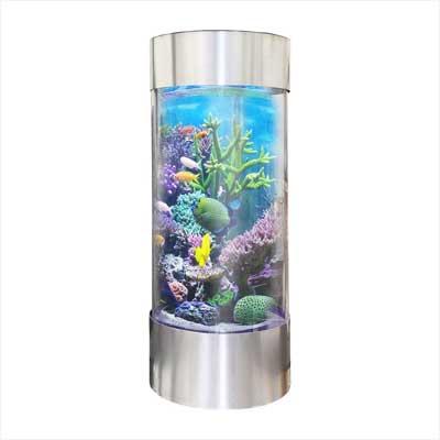 Vepotek Plastic Cylinder Fish Tank