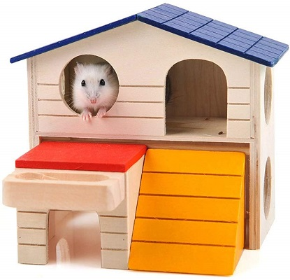 BWOGUE Pet Small Animal Hideout Hamster House Deluxe