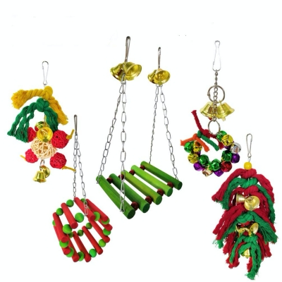 Camiter Pet Bird Parrot Cage Toy, Hanging Swing for Shredding / Chewing