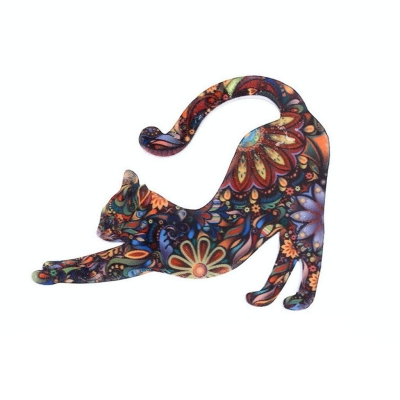 Cat Brooch Lapel Pin Enamel Badges Accessory by Xeminor
