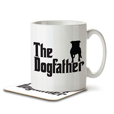 Inky Penguin Dog Father Mug and Coaster Set