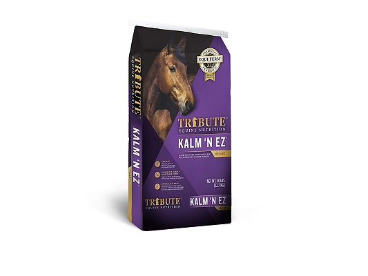 Kalmbach Feeds Tribute Kalm 'N Ez Pellets for Horse
