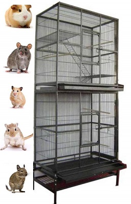 Mcage Large Double Stackable Wrought Iron Cage