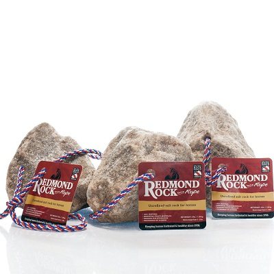 REDMOND – Rock on a Rope Unrefined Salt Rock for Horses (3 Pack)