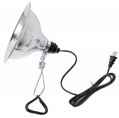Simple Deluxe Clamp Lamp Light with 8.5 Inch Aluminum Reflector