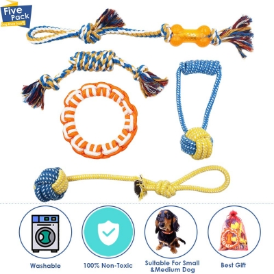 SlowTon Dog Toys, Rope Toy Set
