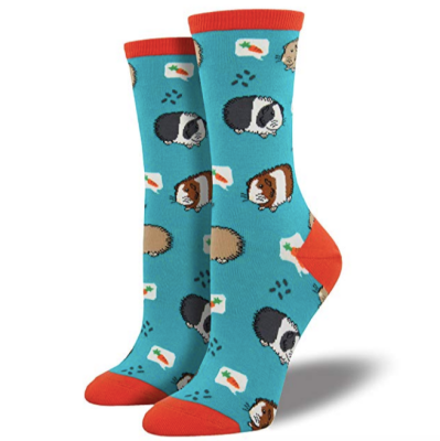 Socksmith Womens Novelty Crew Socks Guinea Pigs