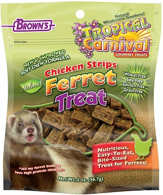 Tropical Carnival F.M. Brown's Natural Chicken Strip Ferret Treat