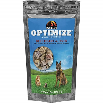Wysong Optimize Beef Hearts and Liver for Dogs, Cats & Ferrets
