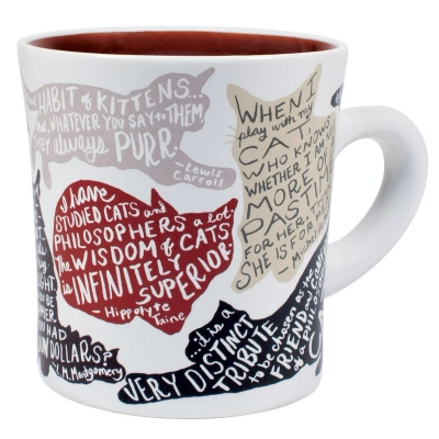 literary cat mug unemployed philosophers guild